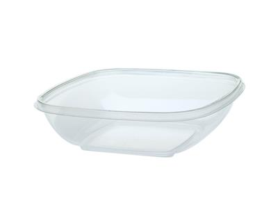SALADEBOWL 250ml 4KANT TRANSPARANT  500st