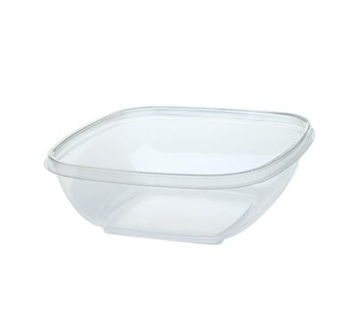 SALADEBOWL 375ml 4KANT TRANSPARANT  500st