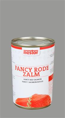 FANCY  *RODE*  ZALM BLIK 418gr